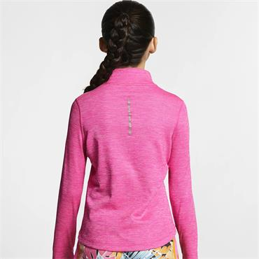 Nike Girls Half Zip Top - Pink