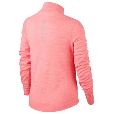 Nike Girls Long Sleeve 1/2 Zip Running Top - Pink