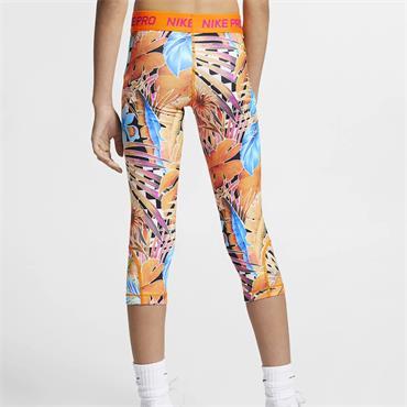 Nike Girls Pro Printed Capris - Multi