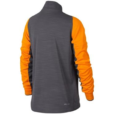 Nike Boys Dri-Fit Long Sleeve Half Zip Top - Grey/Orange