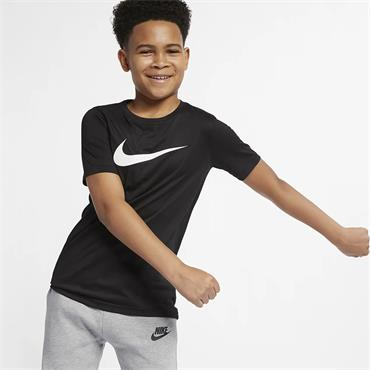 Nike Boys Dri-Fit Swoosh T-Shirt - Black