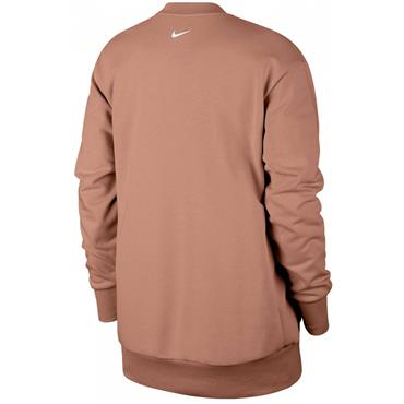Nike WOmens Dri-Fit Crew Neck Sweatshirt - Rose Gold