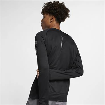 Nike Mens Pacer Long Sleeve Top - Black