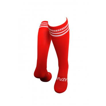 ATAK 3 Bar Football Socks - Red