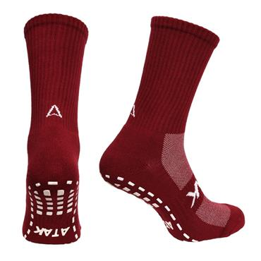 Atak Grippy Sports Socks - Maroon