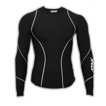 Atak Adults Long Sleeve Compression Shirt - BLACK