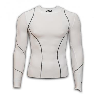 ATAK Adults Long Sleeve Compression Shirt - White