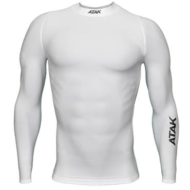 ATAK Kids Compression Long Sleeve Top - White