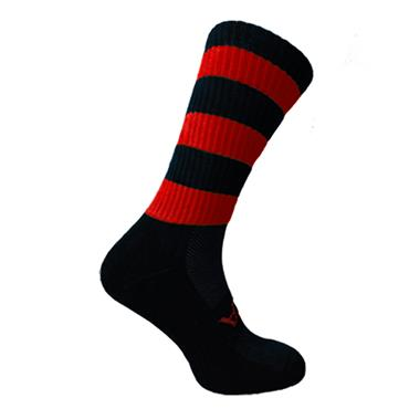 ATAK Mid Leg Socks - Black/Red