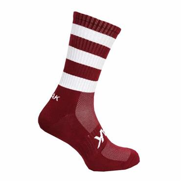 ATAK Mid Leg Socks - MAROON/WHITE