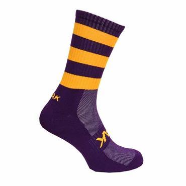 ATAK MID LEG SOCKS - Purple/Gold