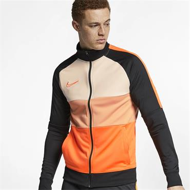 Nike Mens Dri-Fit Academy Full Zip Jacket - Orange/Black