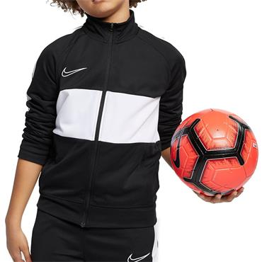 NIKE BOYS DRI-FIT ACADEMY FULLZIP - BLACK/WHITE