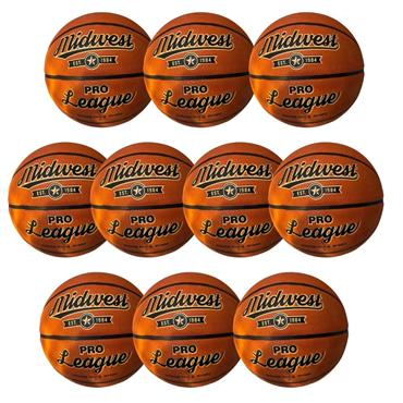 Midwest Pro League Basketball Pack of 10 - TAN