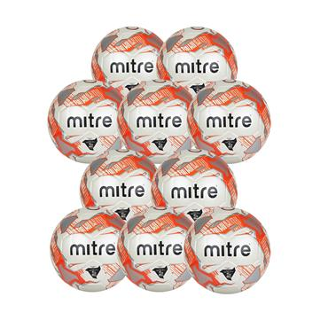 MITRE JUNIOR LITE FOOTBALL 290G PACK - WHITE/ORANGE