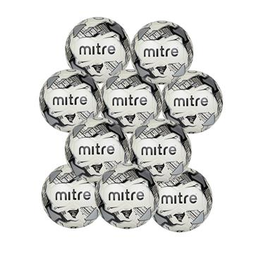 MITRE JUNIOR LITE FOOTBALL 370G PACK - WHITE/BLACK
