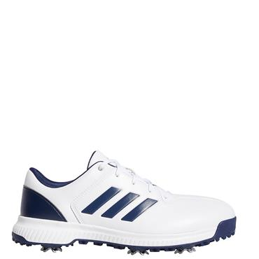 Adidas Mens CP Traxion Golf Shoes - White/Navy