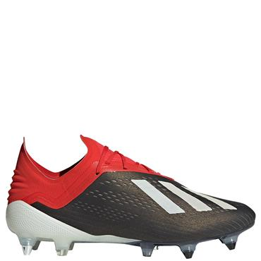 ADIDAS MENS X18.1 SG FOOTBALL BOOT - BLACK/RED