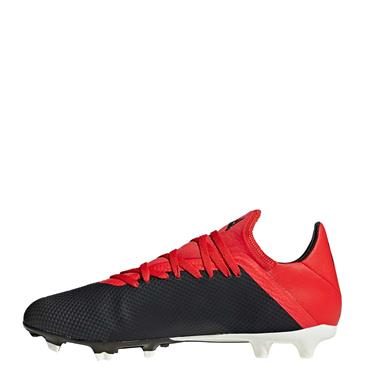 ADIDAS MENS X 18.3FG FOOTBALL BOOTS - RED/BLACK