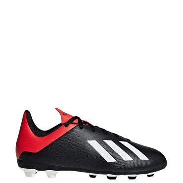 ADIDAS KIDS X18.4FXG J FOOTBALL BOOTS - BLACK/RED