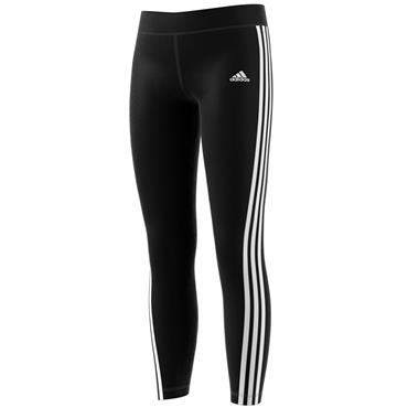 ADIDAS GIRLS 3 STRIPE TIGHT - BLACK