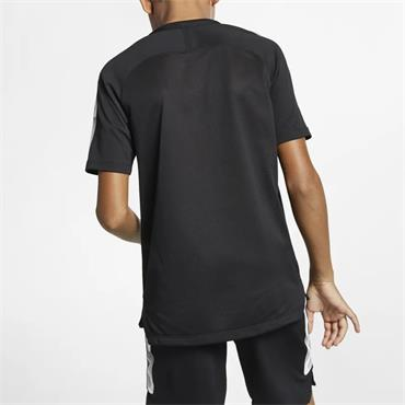 NIKE BOYS BREATHE SQUAD TSHIRT - BLACK/WHITE