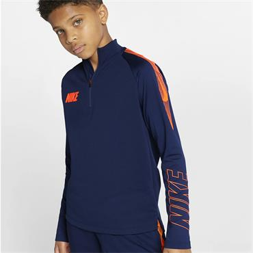 Nike Boys Dri-Fit Squad Half Zip - Navy