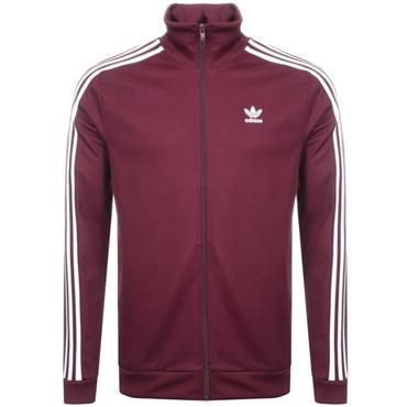 Adidas Mens Full Zip Jacket - Burgandy