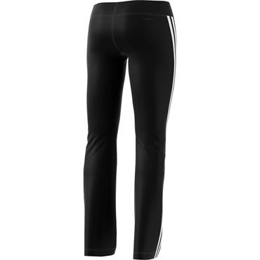 ADIDAS WOMENS 3 STRIPE BRUSH PANTS - BLACK