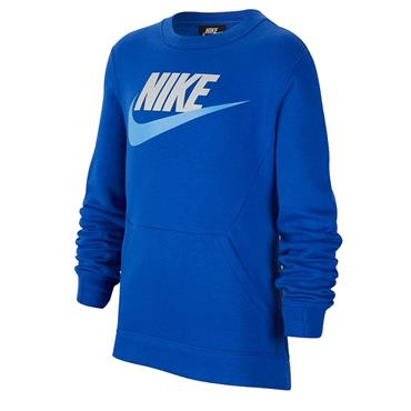 Nike Boys Crew Club Fleece Hoodie - Blue