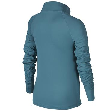 Nike Girls Pro Warm Long Sleeve Top - Teal