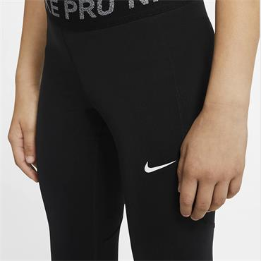 Nike Girls Pro Warm Leggings - BLACK