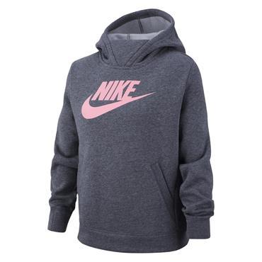 Nike Girls Sportswear Hoodie - Grey