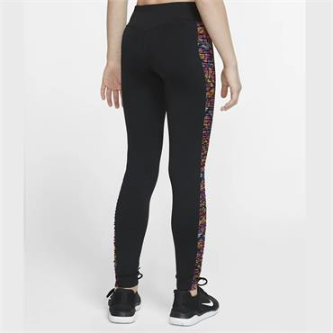 Nike Girls Training Leggings - BLACK