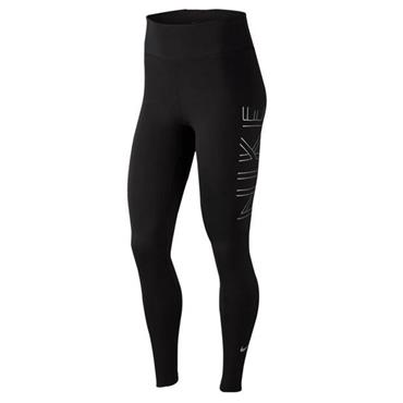 Nike Womens Graphic Running TIghts - BLACK