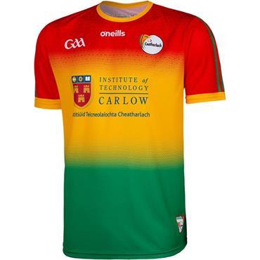 O'Neills Adults Carlow GAA Home Jersey 19/20 - Green Multi