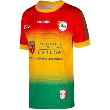 O'Neills Kids Carlow GAA Home Jersey 19/20 - Green Multi