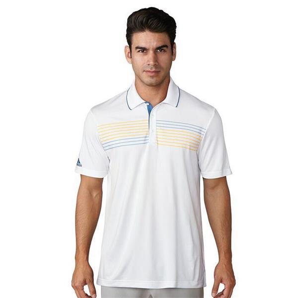 free shipping 70717 67864 Adidas Mens Golf Essentials Textured Polo - White