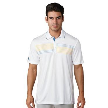 Adidas Mens Essentials Textured Golf Polo Shirt - White