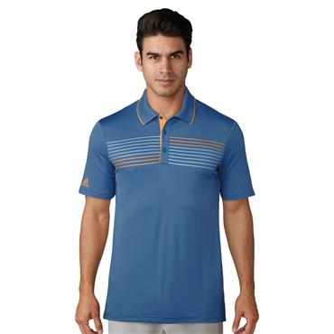 MENS GOLF ESSENTIAL TEXTURED POLO - BLUE