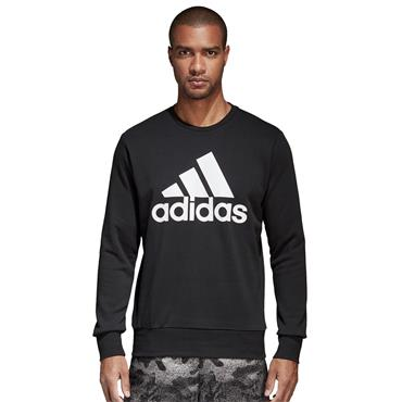 ADIDAS MENS ESSENTIALS SWEATSHIRT - BLACK