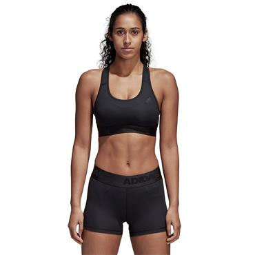 Adidas Womens Don't Rest Alphaskin Padded Sportsbra - BLACK