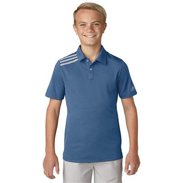BOYS GOLF 3 STRIPE POLO SHIRT - BLUE