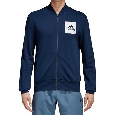 ADIDAS MENS ESSENTIALS FULL ZIP BOMBER - NAVY