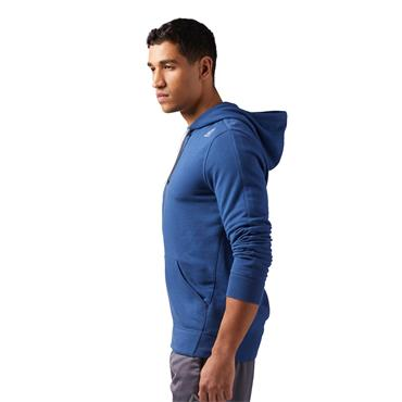 Reebok Mens French Terry Full Zip Hoodie - Blue