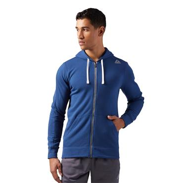 MENS FRENCH TERRY FULL ZIP HOODY - BLUE