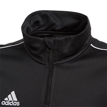 ADIDAS BOYS CORE 18 HALF ZIP - BLACK