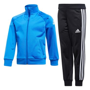 BOYS KNITTED TRACKSUIT - BLACK/BLUE
