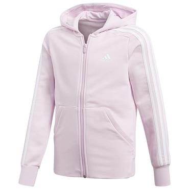 ADIDAS GIRLS FULL ZIP HOODED JACKET - PURPLE