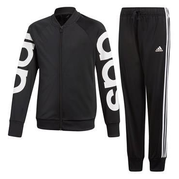 Adidas Boys Linear PES Tracksuit - Black/White